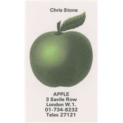 Apple Records Business Card for Chris Stone