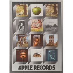 Apple Records Early 1970s Promo Poster