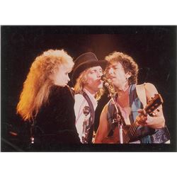 Bob Dylan, Tom Petty, and Stevie Nicks Original Vintage Photograph