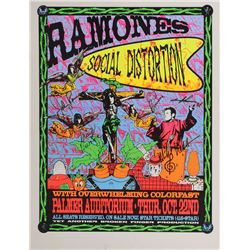 Ramones and Social Distortion Signed Poster