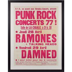 Ramones and Talking Heads Concert Poster