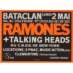 Ramones and The Talking Heads Batclan Paris France Poster