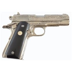 Engraved Colt 1911 Combat Commander .45 Pistol