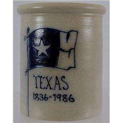 Texas Sesquicentennial Stoneware Crock 1836-1986