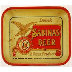 Sabinas Beer Tray Pre-Prohibition Texas Beer
