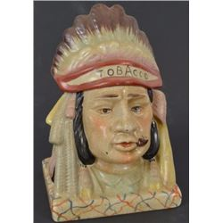 Indian Chief Tobacco Jar