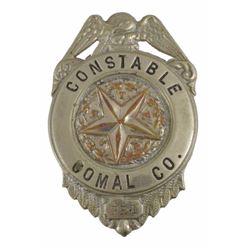 Comal County Texas Constable Badge
