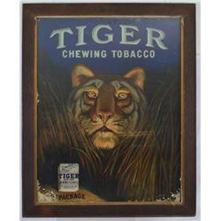 Tiger Tobacco Framed Ad