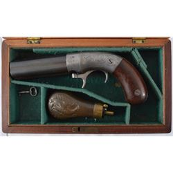 Bacon Single Action Underhammer Cased Pepperbox