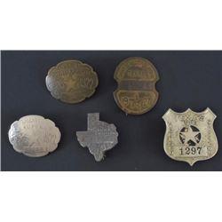 5 Texas Chauffeur Badges