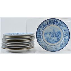 Rare Set of 12 Texas Centennial China Plates