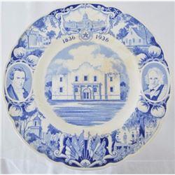 Texas Centennial Alamo Plate