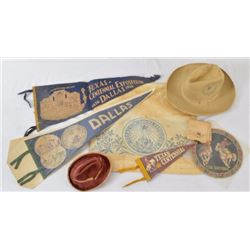 Texas Centennial Cowboy Hat & Memorabilia