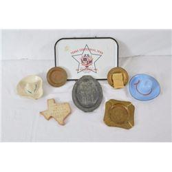 7 Texas Centennial Trays