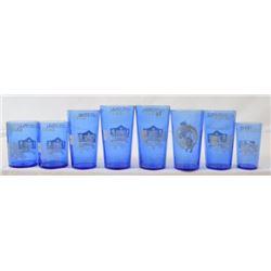 8 Texas Centennial Blue Glasses