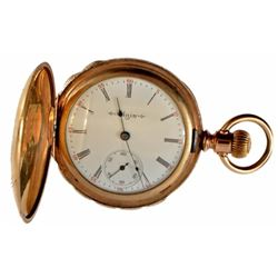 Elgin Gold Pocket Watch with Pie Crust Edge