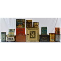 Collection Of Antique Cracker And Confection Tins