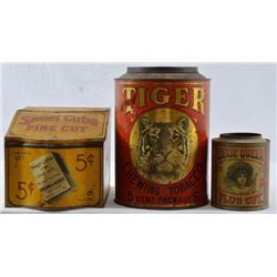 3 Country Store Sweet Cuba & Tiger Tobacco Tins