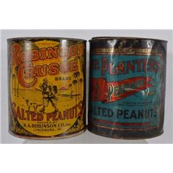 2 Country Store Peanut Tins Robinson Crusoe