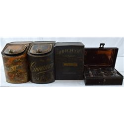 7 Antique Country Store Spice Tins