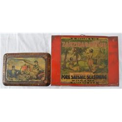 2 Antique Country Store Tins