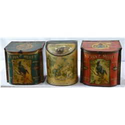 3 Antique Toffee Tins
