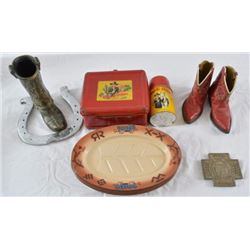 Hopalong Cassidy Lunch Box & Western Items
