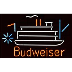 Budweiser New Orleans River Boat Neon Sign