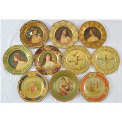 Collection of 10 Vienna Art Plates