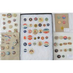 Collection 75 Patriotic Pinbacks