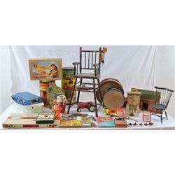Large Collection Of  Antique Toys & Games