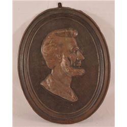 Lincoln Bust Embossed Tin Plaque