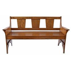 Oak Arts & Crafts Style Bench