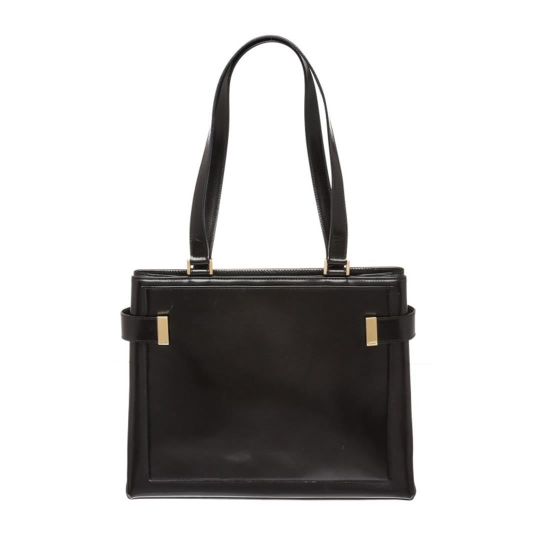 959102bb720 Image 1   Gucci Black Smooth Leather Double Side Buckle Shoulder Bag ...