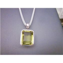 Topaz Pendant and Chain
