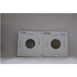 Canada Ten Cent Coin - (2) 1921