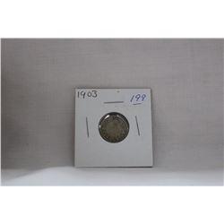 Canada Ten Cent Coin - (1) 1903 (No H) - Silver
