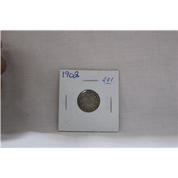 Canada Ten Cent Coin - (1) 1902H - Silver