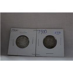 Canada Twenty-Five Cent Coin (2) 1900