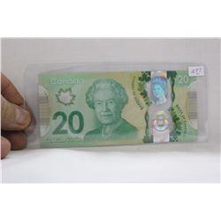 Canada Twenty Dollar Bill - 2017 - Polymer