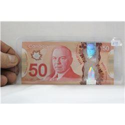 Canada Fifty Dollar Bill - 2017 - Polymer