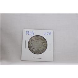Canada Fifty Cent Coin (1) 1913 - Silver