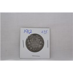 Canada Fifty Cent Coin (1) 1912 - Silver