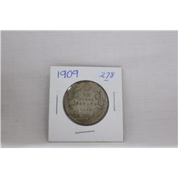 Canada Fifty Cent Coin (1) 1909 - Silver