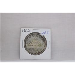 Canada Dollar Coin (1) 1966 - Silver