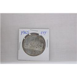 Canada Dollar Coin (1) 1965 - Silver