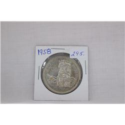 Canada Dollar Coin (1) 1958 - Silver