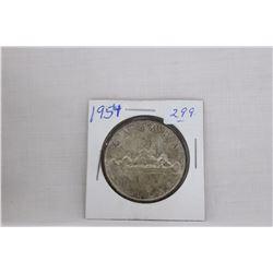 Canada Dollar Coin (1) 1954 - Silver