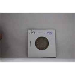 Canada Twenty-Five Cent Coins (1) 1914 - Silver