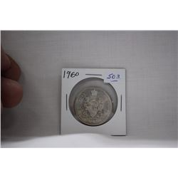 Canada Fifty Cent Coin (1) 1960 - Silver